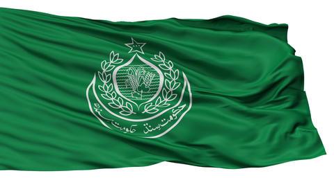 Isolated Sindh city flag, Pakistan Animation
