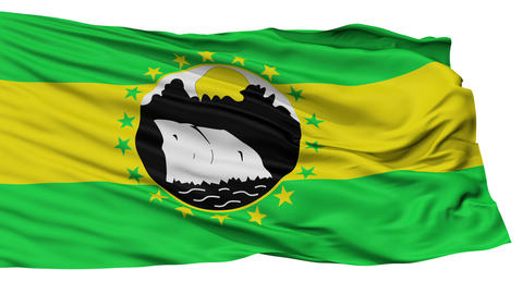 Isolated La Chorrera city flag, Panama Animation