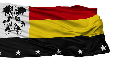 Isolated Madang city flag, Papua New Guinea Animation