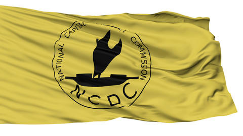 Isolated NCD city flag, Papua New Guinea Animation