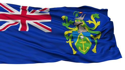 Isolated Islands city flag, Pitcairn Animation