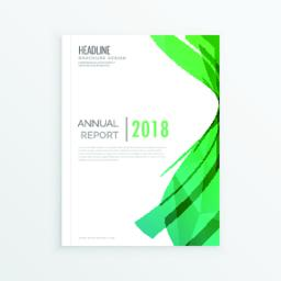 moden abstract green theme magazine cover page design, annial re ベクター