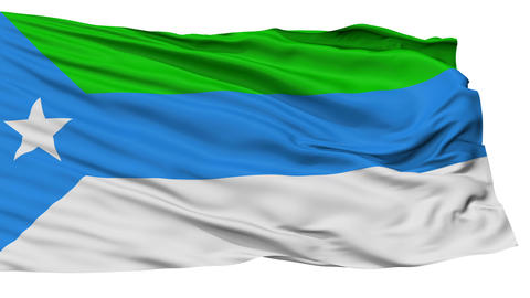 Isolated Jubaland city flag, Somalia Animation