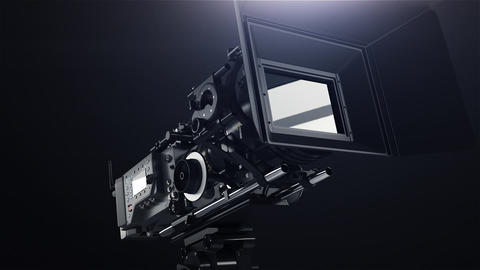 Professional camera with rig GIF