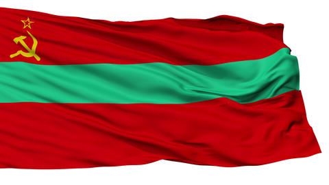 Isolated Transnistria state flag Animation