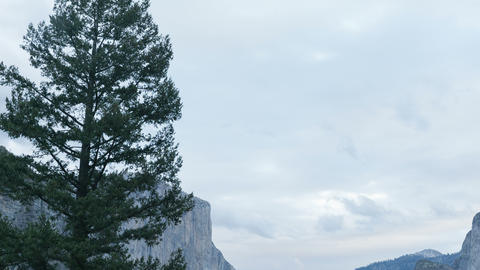 Yosemite Valley Moving Time-lapse Footage