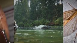 Man fishing at seaside Footage