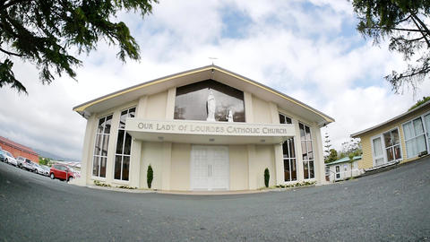 shot of religious chapel or funeral home for funeral service ビデオ