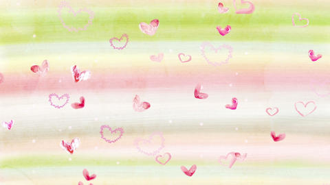Water_Color_Heart 2 CG動画素材