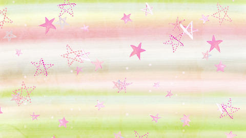 Water_Color_Star 2 CG動画素材
