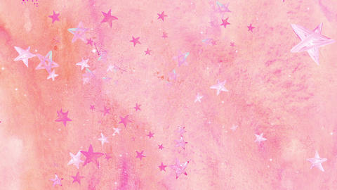 Water_Color_Star CG動画素材