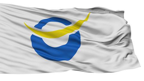 Isolated Date city flag, prefecture Fukushima, Japan Animation