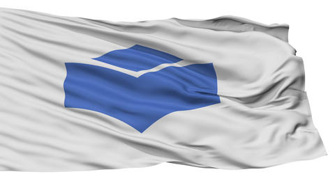 Isolated Flag city flag, prefecture Vector, Japan Animation