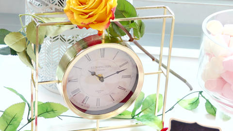 closeup shot of clock on wall 영상물