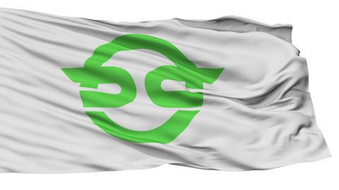 Isolated Kasai city flag, prefecture flag, Japan CG動画