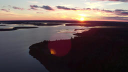 Luther Marsh Wildlife Area sunset aerial 4k inspire 1 pro Footage