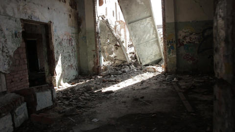 Slums abandoned buildings 1 Footage