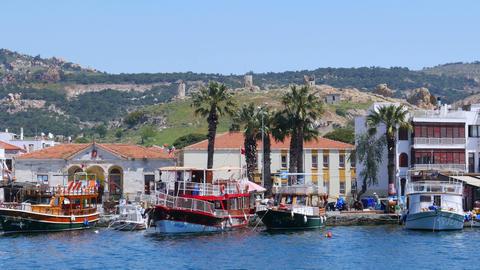 seaside summer travel destination, foca, turkey Live Action