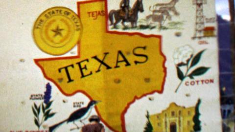 1967: Texas state sign oil cotton blue bonnett 12th World Scout Jamboree Footage