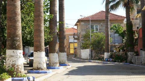 traditional turkish houses, travel destination, yeni foca, turkey Footage