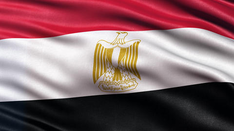 4K Egypt flag seamless loop Animation