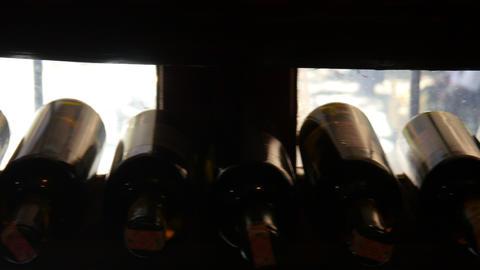 wine bottle shelf in store, sirince, izmir, turkey Footage