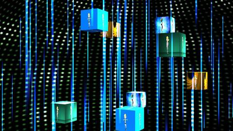 Cartoon Dancers, Cube Animation Animation