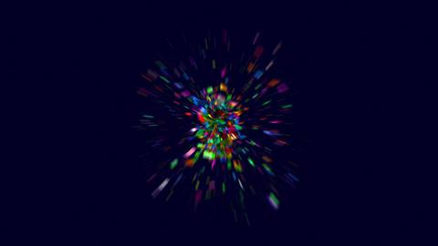 Colourful confetti boom in 4K Animation