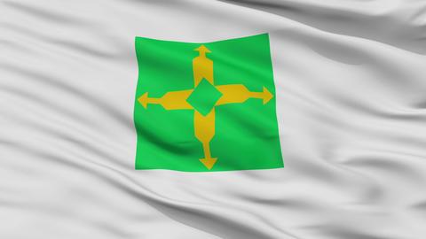 Closeup Distrito Federal city flag, Brasil Animation