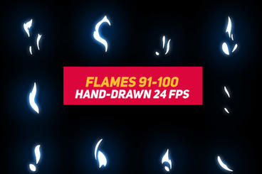Liquid Elements 2 Flames 91-100 After Effects Template