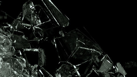 Glass crack and shatter with slow motion. Alpha, 3d…, Stock Animation