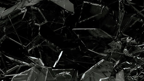 Glass crack and shatter with slow motion. Alpha, 3d... Stock Video Footage