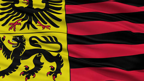 Closeup Duren city flag, Germany Animation