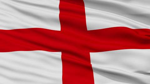 Closeup Bologna city flag, Italy Animation