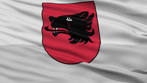 Closeup Balvi city flag, Latvia Animation