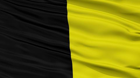 Closeup Mauren city flag, Liechtenstein Animation