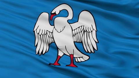 Closeup Jonava city flag, Lithuania Animation