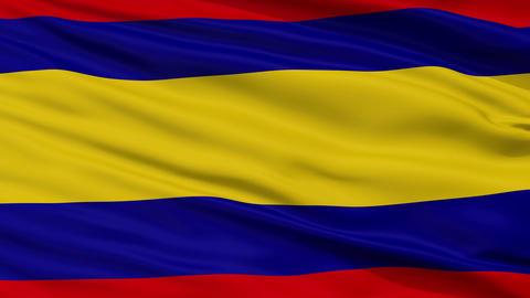 Closeup Alor Setar Kedah city flag, Malaysia Animation
