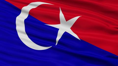 Closeup Johor Bahru Johor city flag, Malaysia Animation