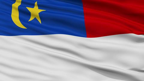 Closeup Malacca city flag, Malaysia Animation