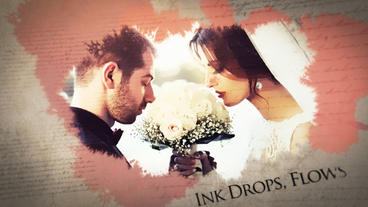Ink Drop Slideshow After Effects Template