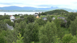 North Europe Norway Saltstraumen village with green surrounding in the fjord 영상물