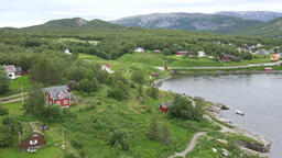 North Europe Norway Saltstraumen overview of the fjord landscape with mountains 영상물