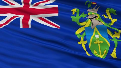 Closeup Islands city flag, Pitcairn Animation