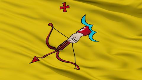 Closeup Kirov city flag, Russia Animation