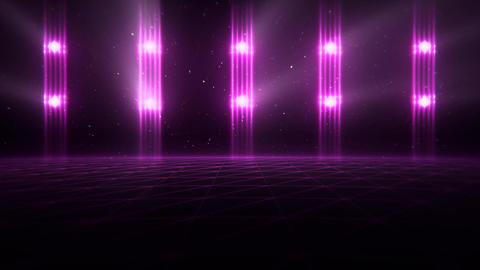 3D Fuchsia Matrix Landscape in Cyberspace VJ Loop Background Animation