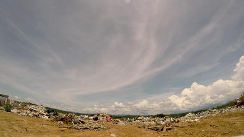 ALEXANDER, NC, UNITED STATES - CIRCA MAY 2017 - POV approaching a landfill dump Footage