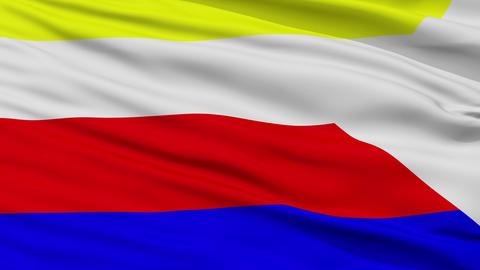 Closeup Martin city flag, Slovakia Animation