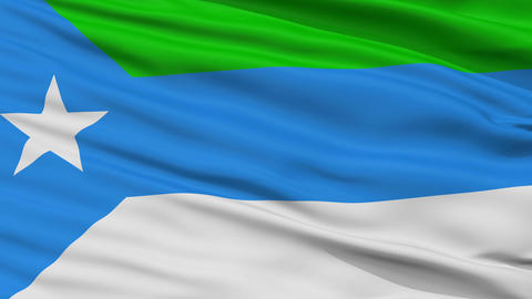 Closeup Jubaland city flag, Somalia Animation