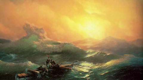 3D Animated Classical Painting HD - Ivan Aivazovsky -The ninth wave 1850 애니메이션